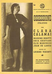 Clara Calamai, pubblicità del film Ossessione