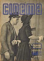 Massimo Girotti e Clara Calamai in Ossessione, Cinema agosto 1942