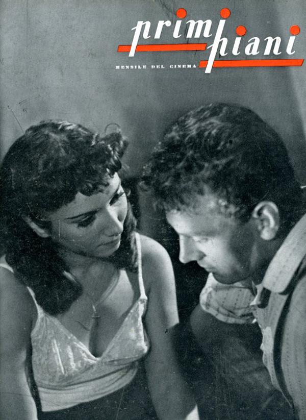 Dhia Cristiani e Massimo Girotti in Ossessione; primi piani, ottobre 1942