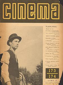Elio Marcuzzo in Ossessione, Cinema ottobre 1943