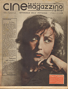 Clara Calamai in Ossessione, cine teatro magazzino, gennaio 1943