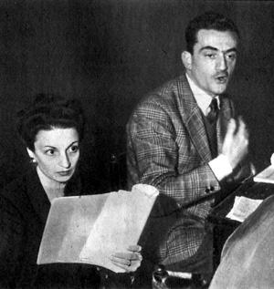 Rina Morelli e Luchino Visconti 1947