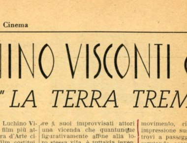 Luchino Visconti La terra trema