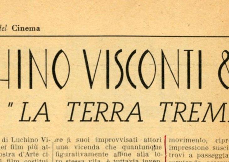 Luchino Visconti La terra trema