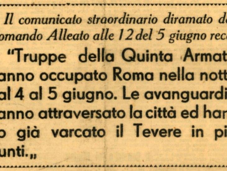 Roma liberata giugno 1944
