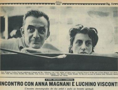 Incontro con Anna Magnani e Luchino Visconti