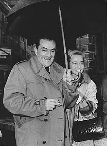 Luchino Visconti e Maria Schell