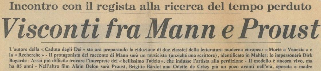 Visconti fra Mann e Proust
