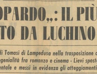 Anteprima a Roma: Il Gattopardo marzo 1963