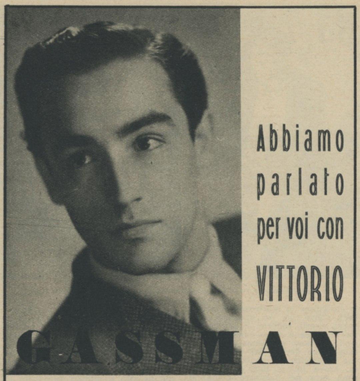 Vittorio Gassman interprete di Maria Tarnowska 1946