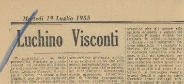 Luchino Visconti 19 luglio 1955