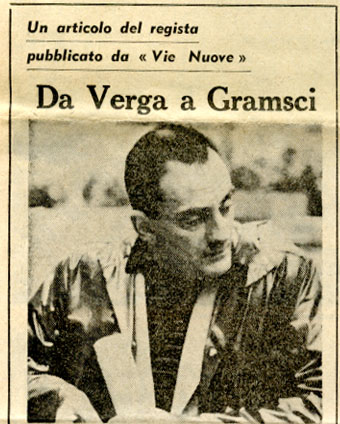 Da Verga a Gramsci Luchino Visconti 1960