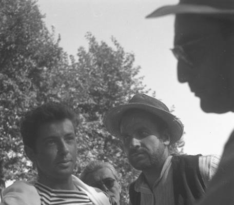 Farley Granger, Massimo Girotti e Luchino Visconti