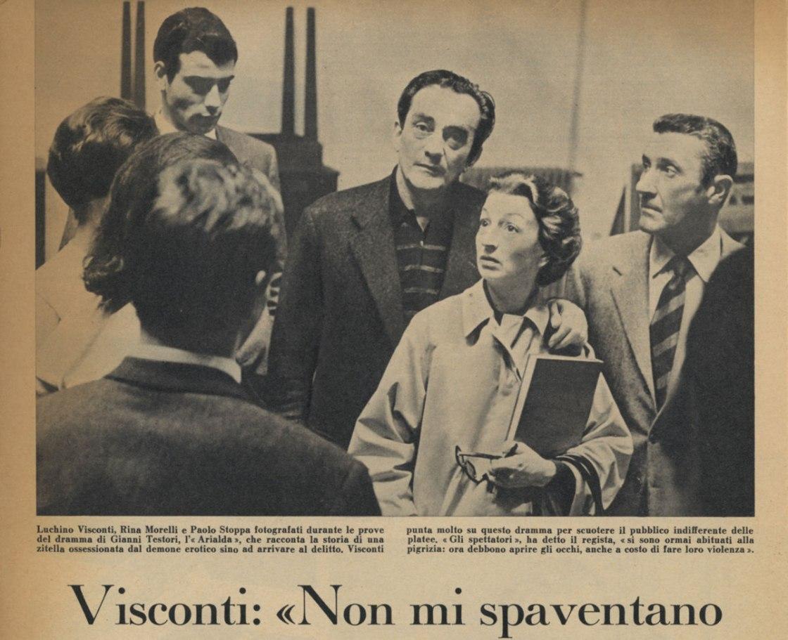Visconti: Non mi spaventano i moralisti di professione