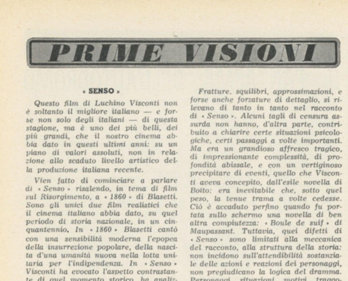 Prime Visioni Senso