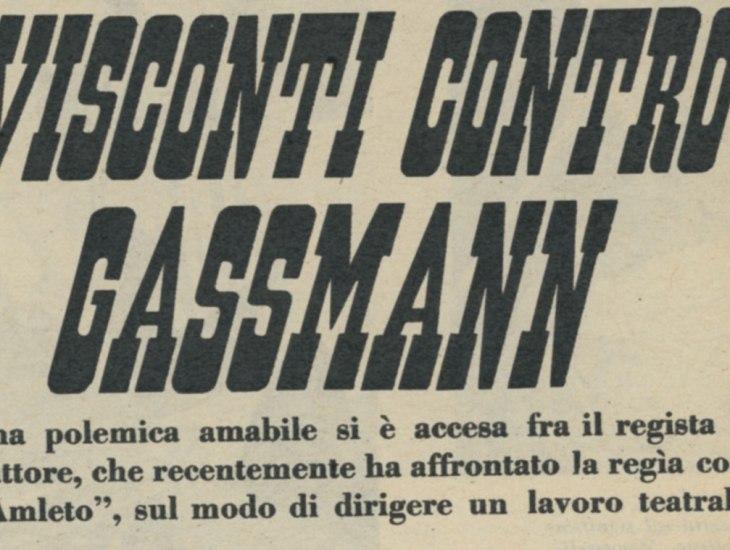 Visconti contro Gassman