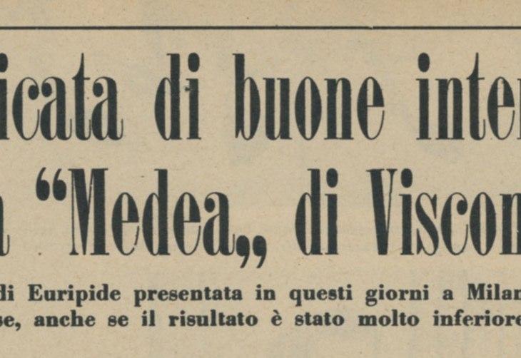 Lastricata di buone intenzioni la Medea di Visconti