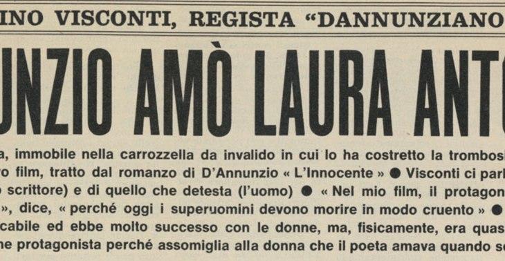 Luchino Visconti regista dannunziano