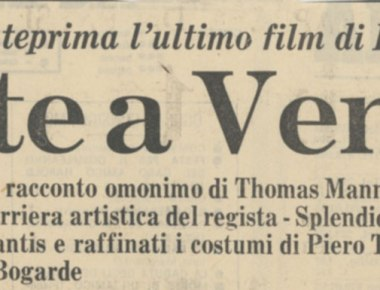 Presentato in anteprima Morte a Venezia di Luchino Visconti