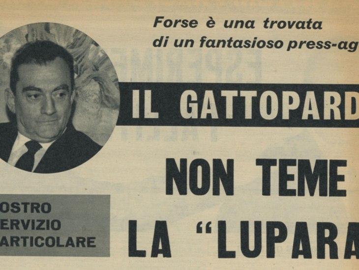 Il Gattopardo non teme la lupara