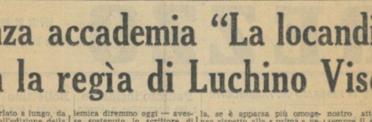 La locandiera con la regia di Luchino Visconti