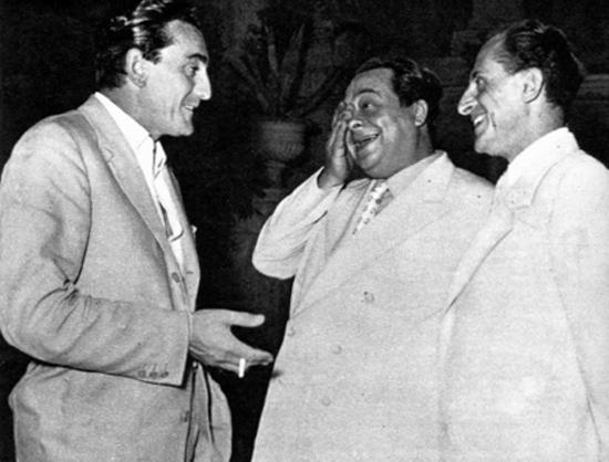 Luchino Visconti. Aldo Fabrizi e Salvo D'Angelo, Venezia 1950