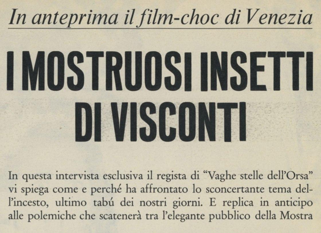 Vaghe stelle dell'Orsa di Luchino Visconti