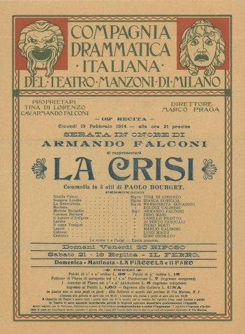 Compagnia Drammatica Italiana del Teatro Manzoni 1914