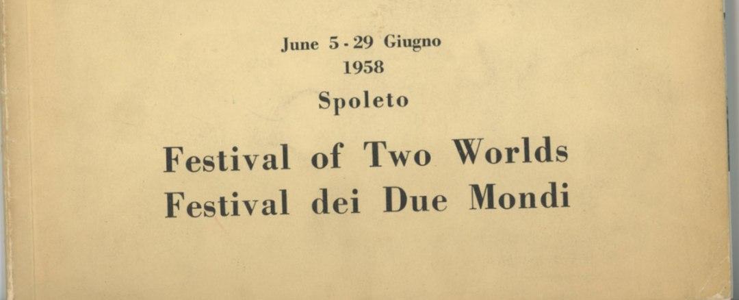 Festival dei Due Mondi Spoleto 1958