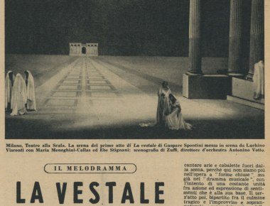 La Vestale di Spontini teatro alla Scala