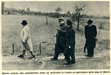 Carl Koch, Jean Renoir, Amleto Bonetti e Luchino Visconti, ultimo a destra