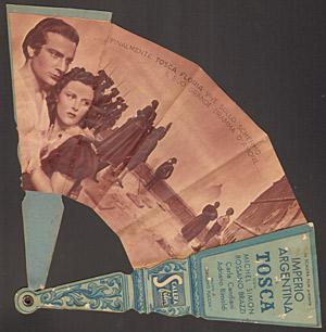 Brochure del film Tosca