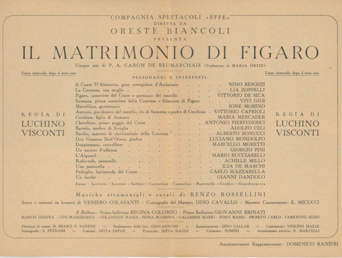 Il Matrimonio di Figaro di P. A. Caron de Beaumarchais