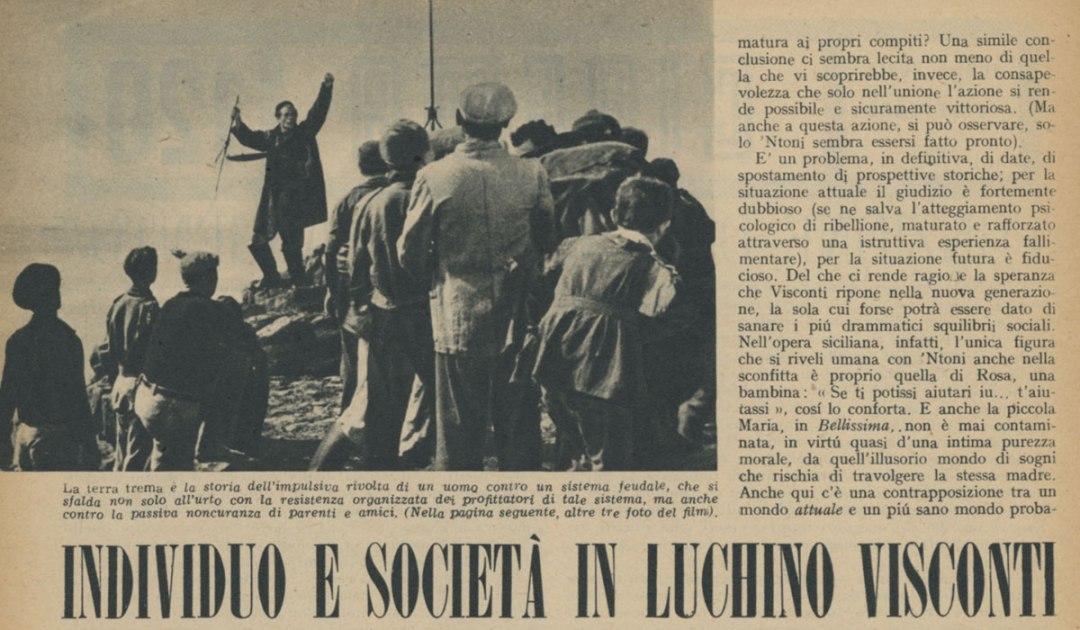 Individuo e società in Luchino Visconti