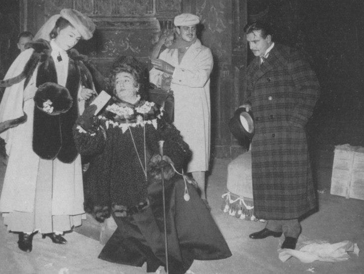 Come le foglie, Teatro Olimpia, Milano 1954