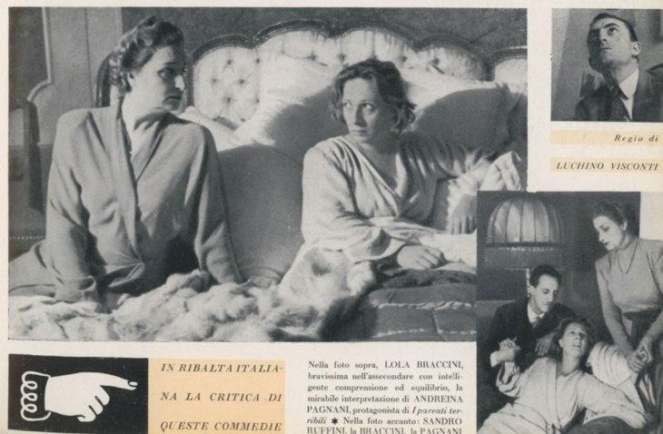 Parenti terribili di Jean Cocteau, Milano 9 ottobre 1946