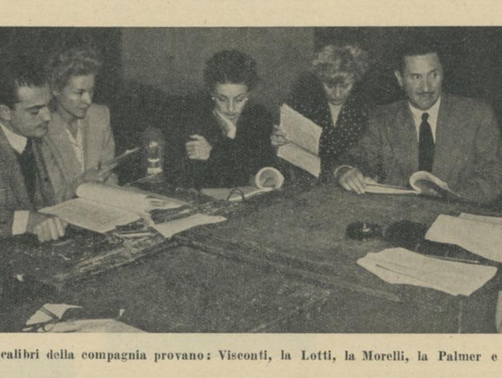 Prova della Compagnia Italiana di Prosa ottobre 1946
