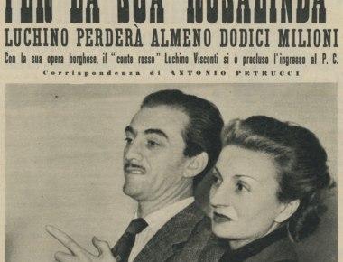 Luchino Visconti e Rina Morelli, Roma, Teatro Eliseo 1948