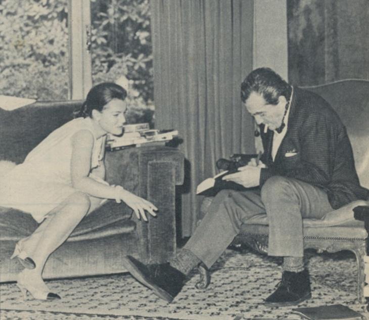 Romy Schneider e Luchino Visconti