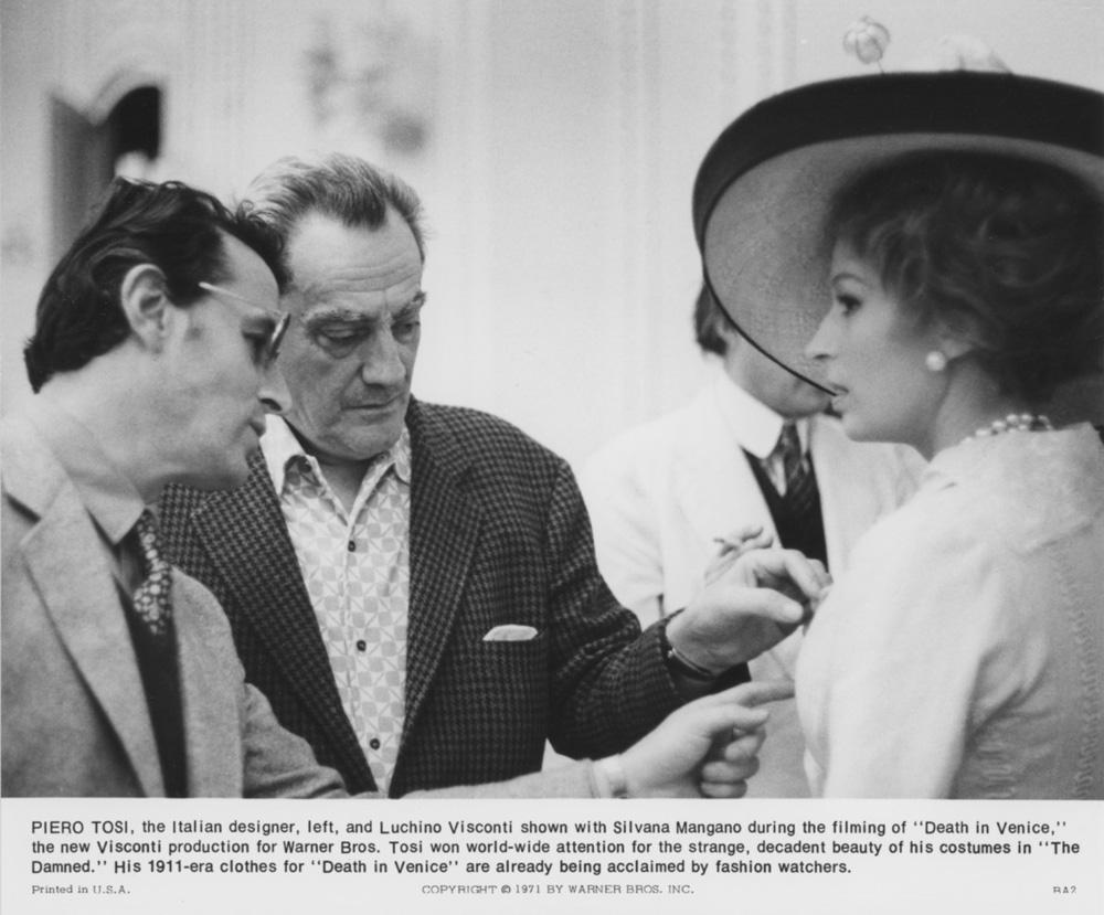Piero Tosi, Luchino Visconti, Silvana Mangano