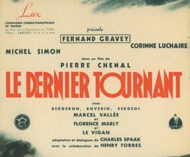 Le dernier tournant Pierre Chenal 1939