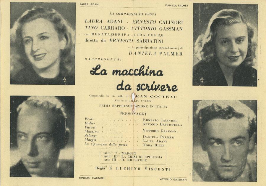 La macchina da scrivere di Jean Cocteau Teatro Eliseo 1945