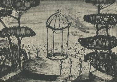 Bozzetto di Mario Chiari per Il seduttore di Diego Fabbri (1951)