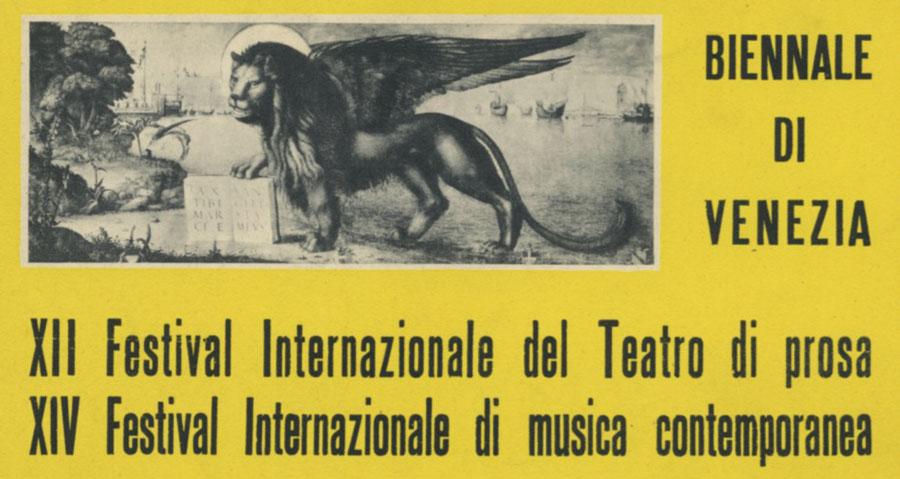 XII Festival Internazionale del Teatro di Prosa, Biennale di Venezia 1951