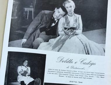 Delitto e castigo al Teatro Eliseo, Roma, 12 novembre 1946