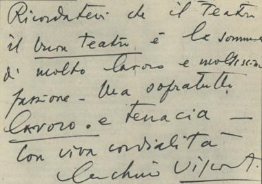 Messaggio di Luchino Visconti ai giovani del Gruppo della Garbatella
