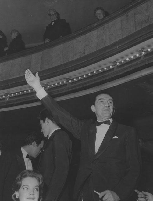 Luchino Visconti al Théâtre des Champs-Élysées, Parigi 23 febbraio 1961