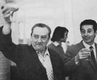 Luchino Visconti e Mario Gallo, produttore esecutivo di Morte a Venezia