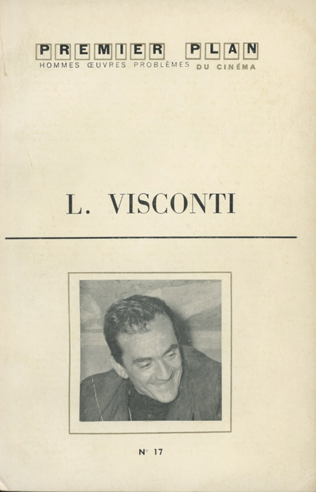 Luchino Visconti Premier Plan Mai 1961